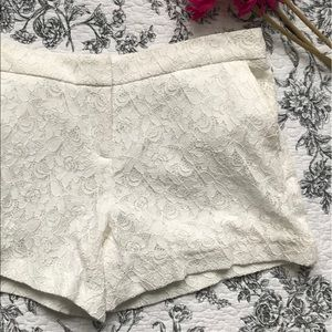Cynthia Rowley Lace Shorts Floral Patterened
